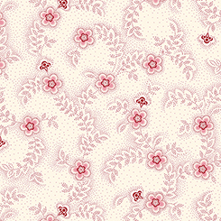 Colebrook Floral and Leaf Toss Cream/Red Fabric Yardage 26011-ER