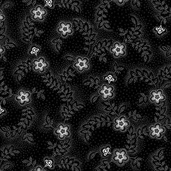 Colebrook - Floral & Leaf Toss Black