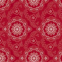 Colebrook - Large Medallion Red