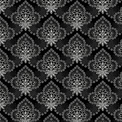 Colebrook - Floral Medallions Black