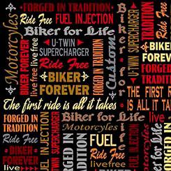 BIKER FOR LIFE BIKER LINGO BLACK