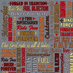 BIKER FOR LIFE BIKER LINGO DK GRAY