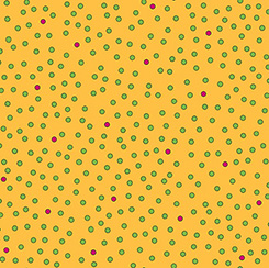 IMPERIAL PAISLEY DOTS Yellow with green dots