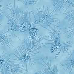 BY WATER'S EDGE PINECONE TOILE BLUE