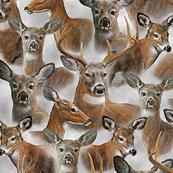 In The Woods - Packed Deer on Grey