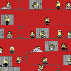 BEST FAMILY EVER MINIONS IN JAIL RED