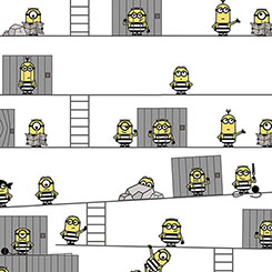 BEST FAMILY EVER MINIONS IN JAIL WHITE