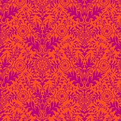 1649 26106 OV ORANGE/FUCHSIA for Quilting Treasures. 100% cotton 43 wide
