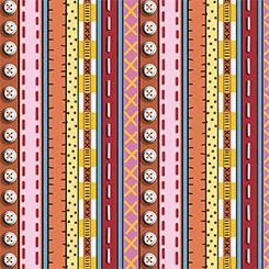 2.83 Yards~102Patchwork Farms - Decorative Stripe Red (26113-R)