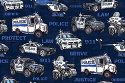 Protect & Serve Police Vehicle
