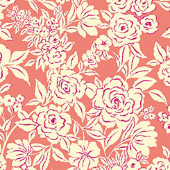 Zola ETCHED FLORAL CORAL