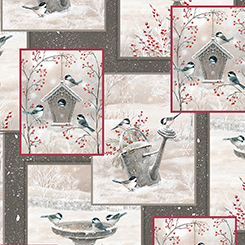 WINTER GARDEN 1649-26238-K LIGHT GRAY WITH PICTURE BLOCKS