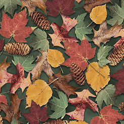 North Woods LEAVES & PINECONES FOREST