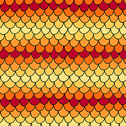 1649 26267 SO House On The Hill SCALLOPS YELLOW/ORANGE for Quilting Treasures. 100% cotton 43 wide