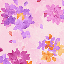 Soiree' SPACED WATERCOLOR FLORAL PALE PINK 26272-P