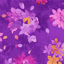Soiree' SPACED WATERCOLOR FLORAL PURPLE 26272-V