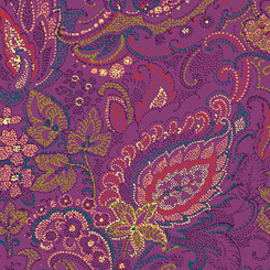 1649 26279 V Ashtyn DOTTED PAISLEY PURPLE for Ink & Arrow Fabrics. 100% cotton 43 wide
