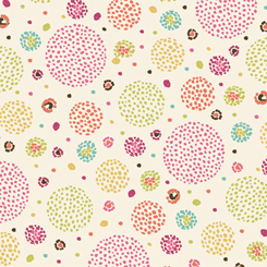 1649 26281 EP Aziza DOTTED CIRCLES for Quilting Treasures. 100% cotton 43 wide
