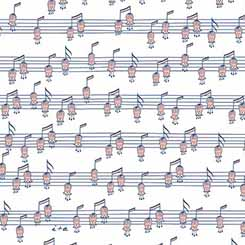 MELODIE MUSICAL NOTES(HORIZONTAL) WHITE