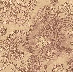 108 Paisley Filigree Wideback - Tan