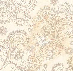 108 Paisley Filigree Wideback - Cream