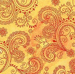 Avalon Decorative Filigree 108 Wide Back in Gold by Quilting Treasures