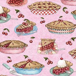 Home Sweet Home CHERRY PIES PINK