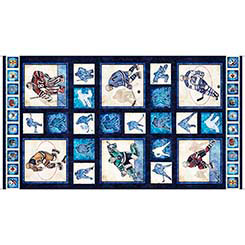 Face Off HOCKEY PLAYER PICTURE PATCH PANEL(24) DARK NAVY