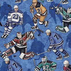 Face Off - Hockey Players Blue