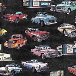 Motorin' Vintage Cars Black