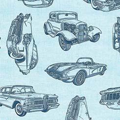 Motorin' VINTAGE CAR SKETCHES LT