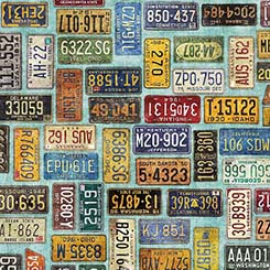 MOTORIN LICENSE PLATES AQUA