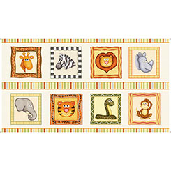 Jungle Buddies ANIMAL PICTURE PATCHES CREAM