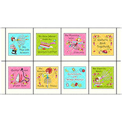 THE QUILTED COTTAGE SEWING PHRASES PATCHES CREAM
