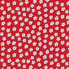 The quilting Cottage Red flowers
