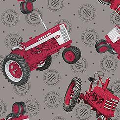Farmall Show<br>Tossed Tractors Gray - 26452-K