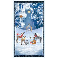 Woodland Dream Nativity Panel - Blue (24)