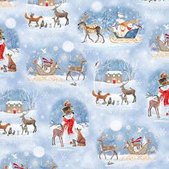 QT Fabrics Woodland Dream Winter Vignettes  #26475-B