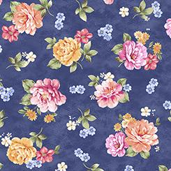 Garden Grandeur Large Floral Toss Navy