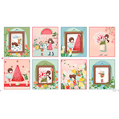 Melon Drop GIRL PICTURE PATCHES MULTI