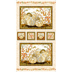 QT - Autumn Shimmer PUMPKIN PICTURE PANEL - 26538-E   (H-6)