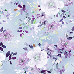 Q - Quilting Treasures - JACQUELINE - FLORAL - CHAMBRAY