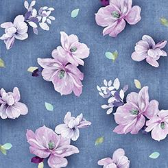 Jacqueline Tossed Flowers Denim