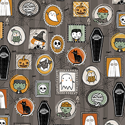 Boos & Ghouls HALLOWEEN CHARACTERS GRAY