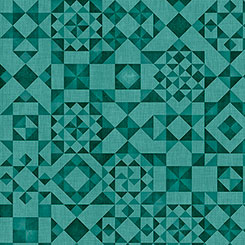 Seamless Dark Teal Quilt Blocks