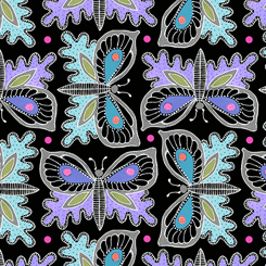 Gypsy Butterflies Black