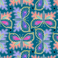 Gypsy Butterflies Teal