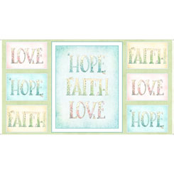Sweet Thoughts FAITH HOPE LOVE PANEL MULTI 26676-X