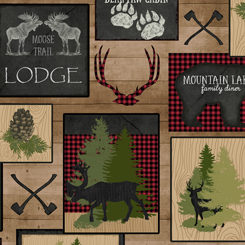 Moose Trail Lodge Lodge Patch 1649-26682-A Tan