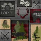 Moose Trail Lodge LODGE PATCH GRAY